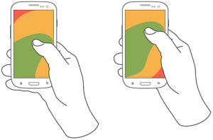 Hand Gestures on a Mobile Interface